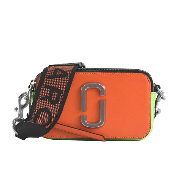 マークジェイコブス MARC JACOBS ショルダーバッグ CAMERA BAG SNAPSHOT FLUORO M0014503 BRIGHT ORANGE MULTI