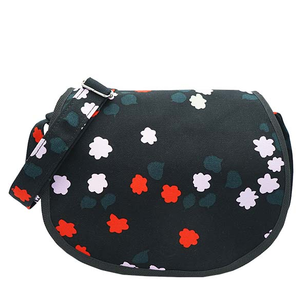 マリメッコ MARIMEKKO ショルダーバッグ EULA TAIVAANKUKAT CANVAS BAGS TAIVAANK 47958 BLACK/RED/SEA GREEN
