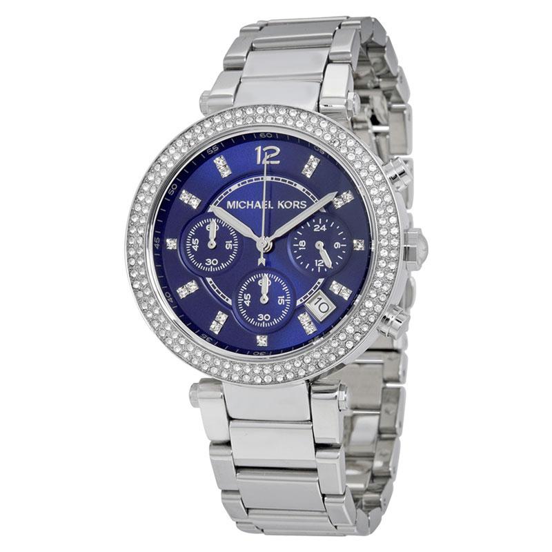 マイケルコース MICHAEL KORS レディス腕時計 MK6117 Parker BLクロノ
