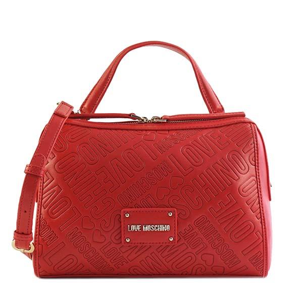 ラブモスキーノ LOVE MOSCHINO ハンドバッグ 1500 EMBOSSED LOGO JC4031 RED