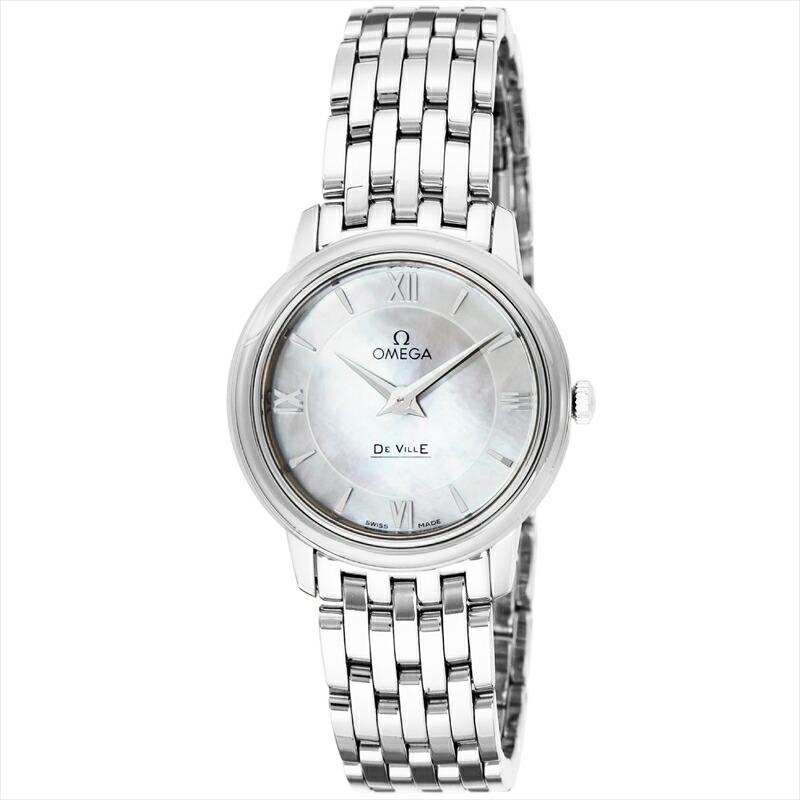 オメガ OMEGA レディース腕時計 デ・ビル 424.10.27.60.05.001 ホワイトパール
