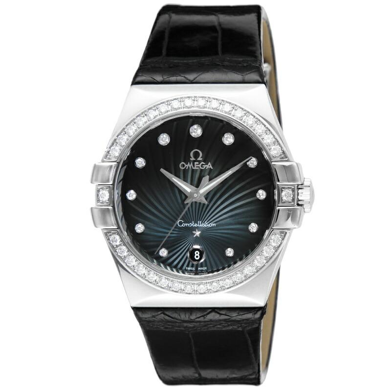 本物の オメガ OMEGA 腕時計 コンステレーション 123.18.35.60.56.001 ブルー, ヘムリーベット 25fb4abd