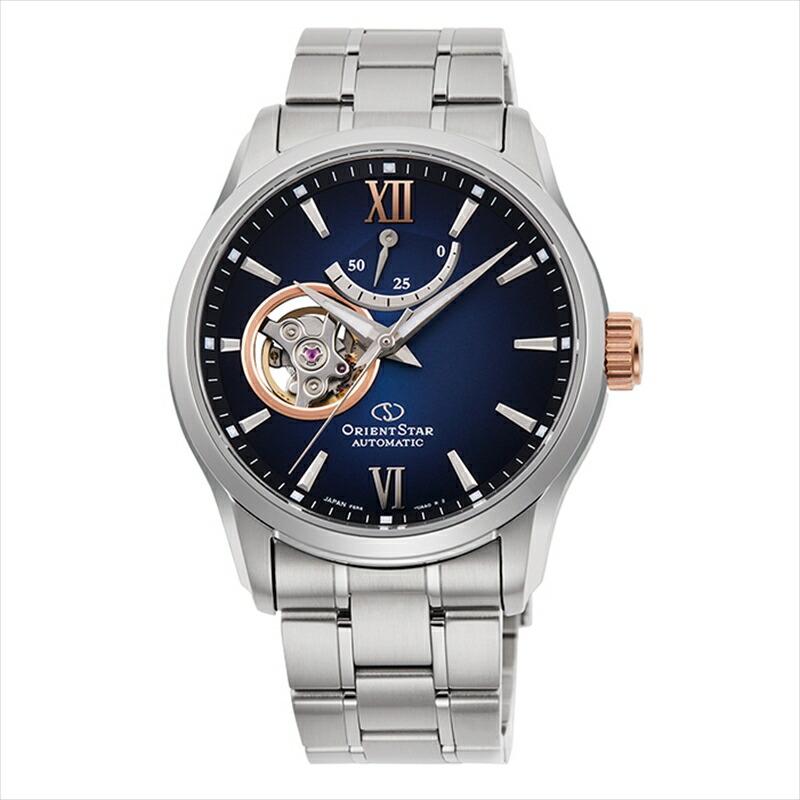 オリエントスター 訳あり商品 ORIENT STAR メンズ ステンレススティール 腕時計 海外輸入 ネイビー RK-AT0012L