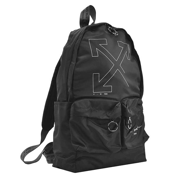 オフホワイト OFF-WHITE バックパック UNFINISHED BACKPACK BLACK SILVER OMNB003E19E48003 BLACK SILVER