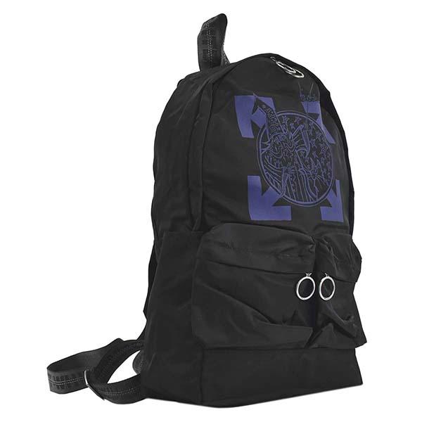 オフホワイト OFF-WHITE バックパック WIZARD AND CAT BACKPACK BLACK BLUE OMNB003F19E48017 BLACK BLUE