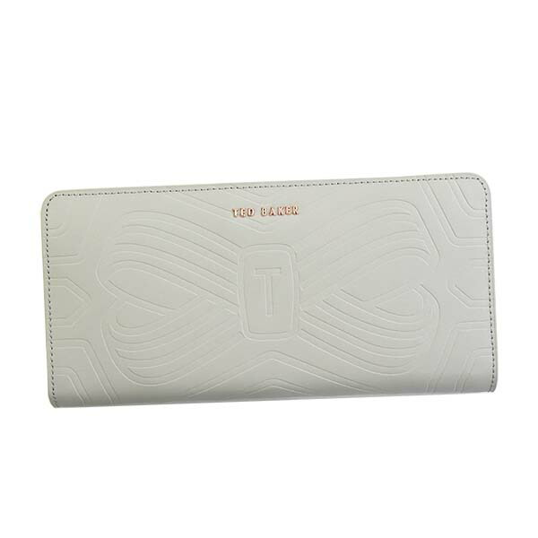 テッドベーカー TED BAKER ラウンド長財布 EMBOSSED BOWZIP MATINEE MELLVNA 143144 LIGHT GREY