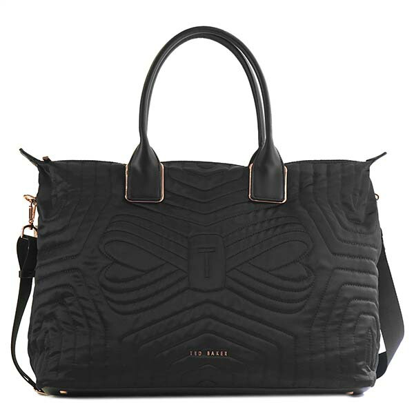 テッドベーカー TED BAKER トートバッグ QUILTED BOW LARGE NYLON TOTE AGARIA 143255 BLACK
