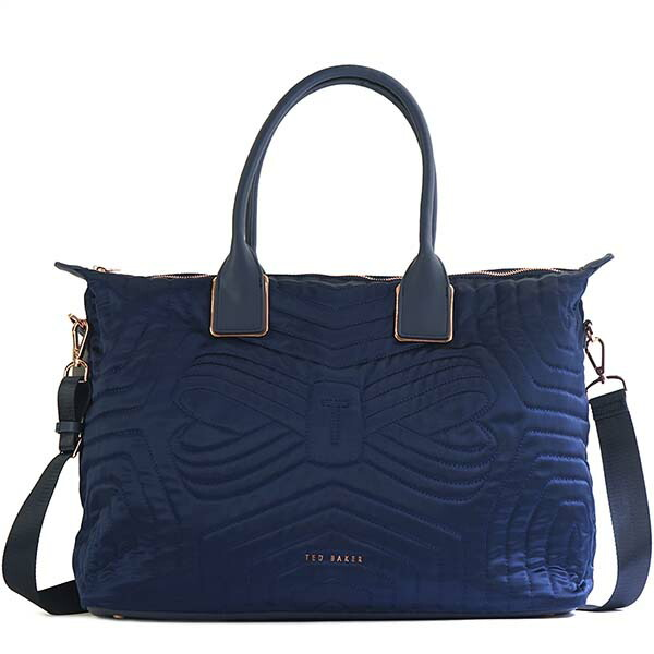 テッドベーカー TED BAKER トートバッグ QUILTED BOW LARGE NYLON TOTE AGARIA 143255 NAVY