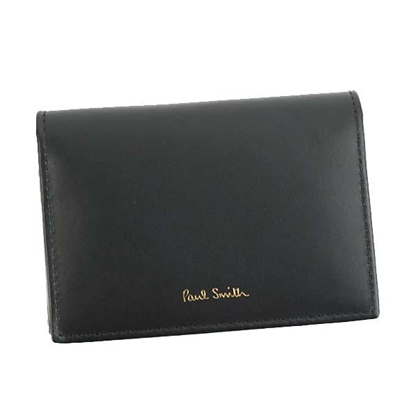 ポールスミス PAUL SMITH カードケース FOLD OVER CREDIT CARD CASE AUPC4776 BK