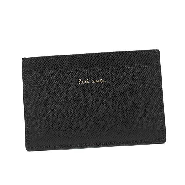 ポールスミス PAUL SMITH カードケース CREDIT CARD CASE NEW MINI PRINT M1A-4768 BLACK/GREEN