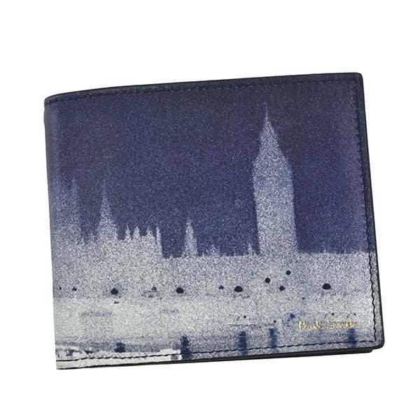 ポールスミス PAUL SMITH 2つ折りカード財布 WALLET M1A-4832 PRINTED