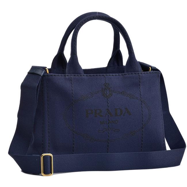 プラダ PRADA ハンドバッグ CANAPA ブルー 1BG439