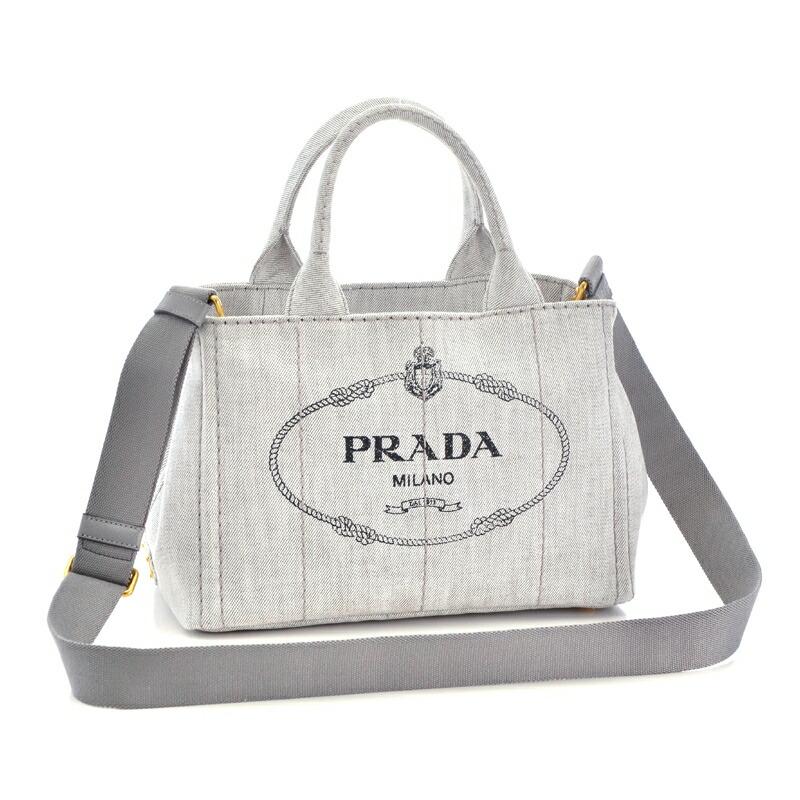 プラダ PRADA 2WAYハンドバッグ DENIM 1BG439 BIANCO