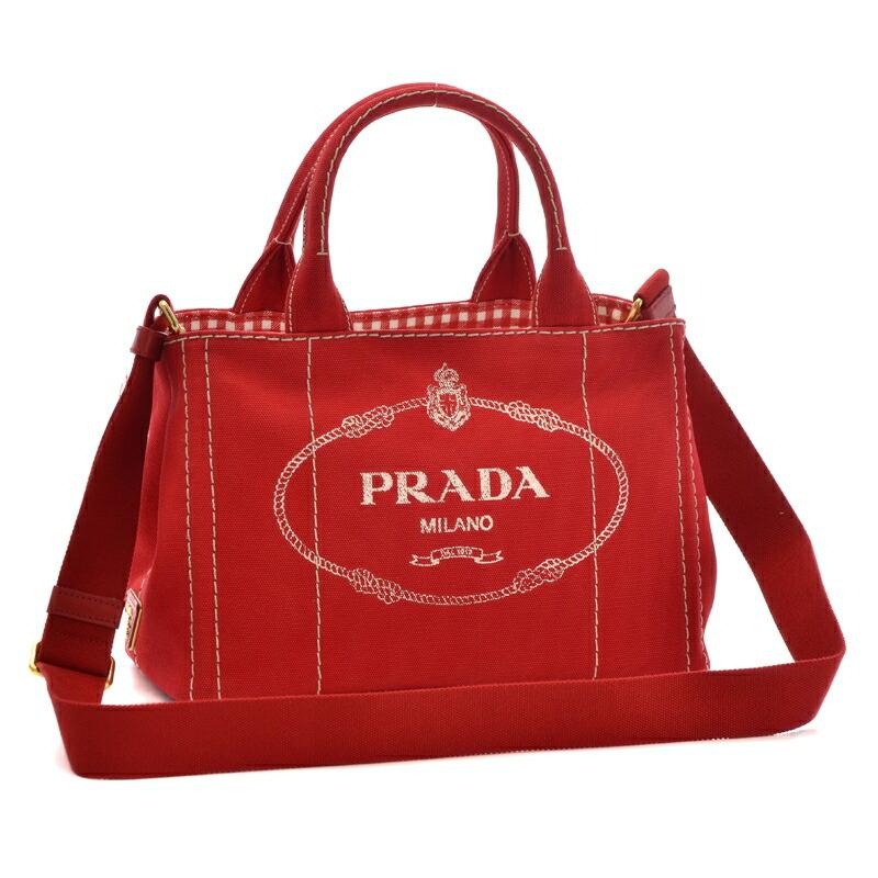 プラダ PRADA 2WAYハンドバッグ CANAPA-OOX 1BG439 ROSSO