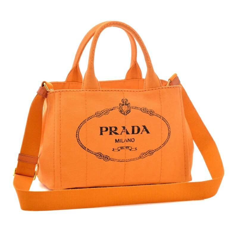 プラダ PRADA 2WAYハンドバッグ CANAPA 1BG439 PAPAYA