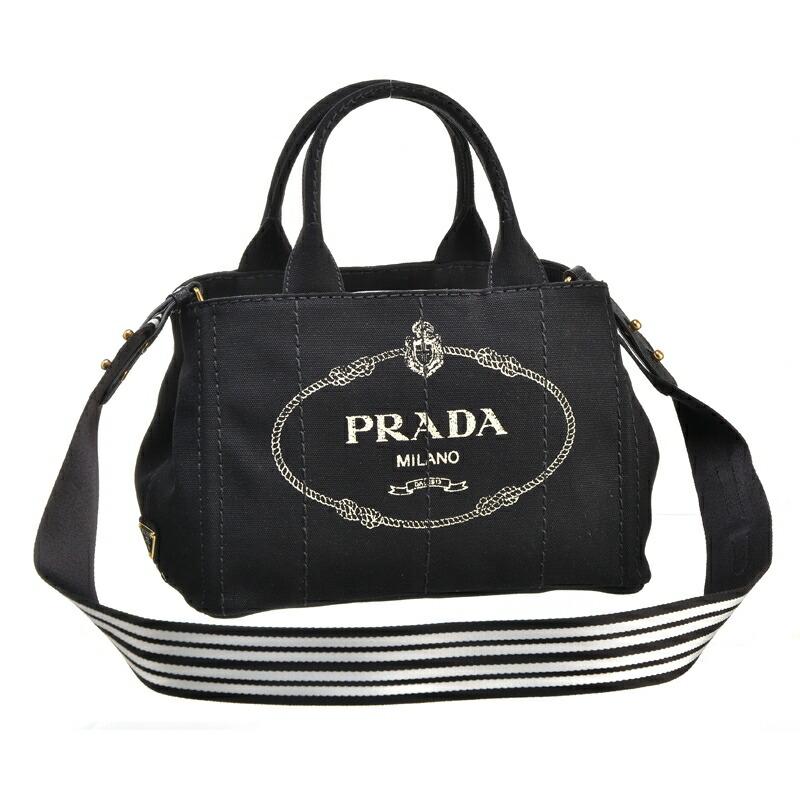 プラダ PRADA 2WAYハンドバッグ CANAPA-ROO 1BG439 NERO/TALCO