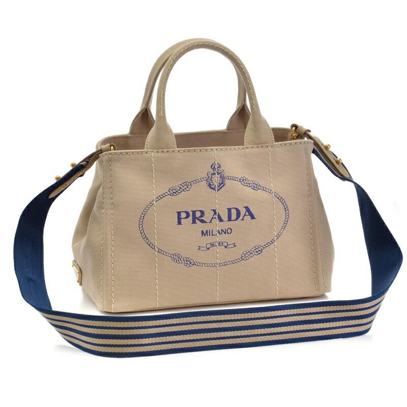 プラダ PRADA 2WAYハンドバッグ CANAPA-ROO 1BG439 CORDA/BLU