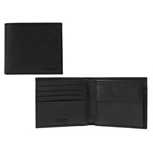 プラダ PRADA 二つ折財布 SAFFIANO 2MO738 NERO