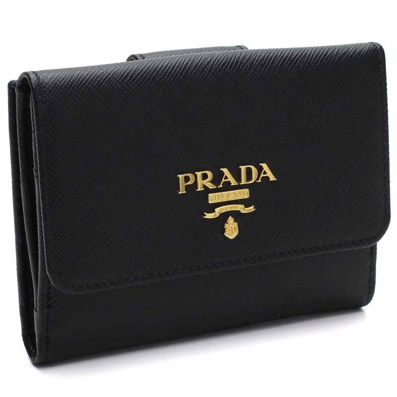プラダ PRADA 三つ折財布 1MH523 NERO SA/M/O