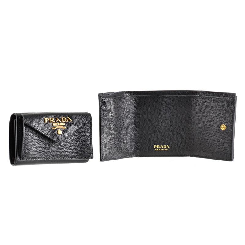 プラダ PRADA 三つ折財布 1MH021 NERO