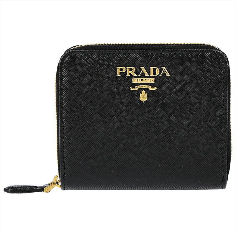 プラダ PRADA 二つ折財布 新作からSALEアイテム等お得な商品 満載 1ML036 NERO 着後レビューで 送料無料