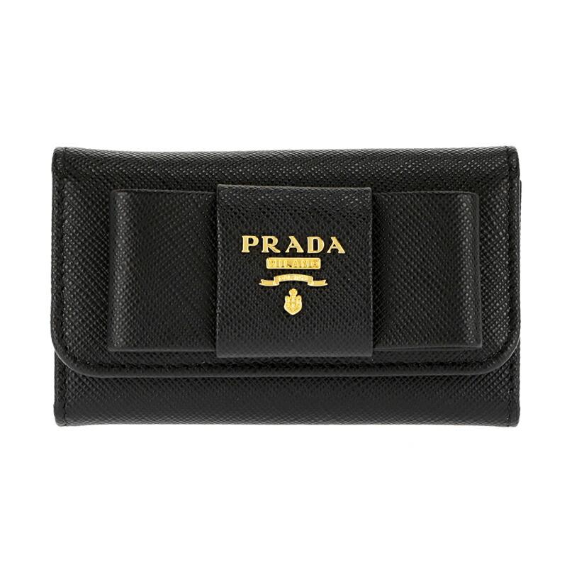 プラダ PRADA キーケース SAFFIANO FIOCCO 1PG222 NERO