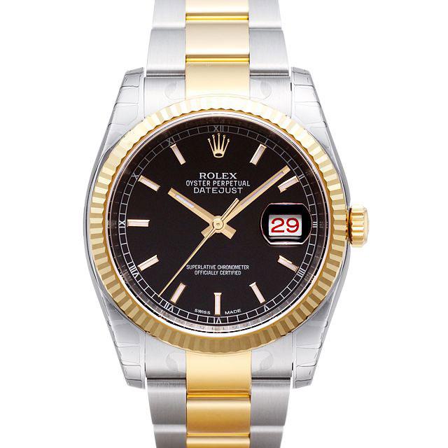 【店内全品送料無料~3/11】ロレックス ROLEX デイトジャスト メンズ 腕時計 ブラック 116233