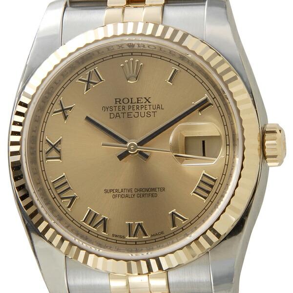 【店内全品送料無料~3/11】ロレックス ROLEX デイトジャスト メンズ 腕時計 ゴールド 116233