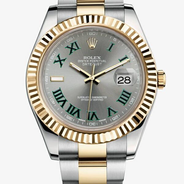 【店内全品送料無料~3/11】ロレックス ROLEX デイトジャスト メンズ 腕時計 グレー 116333