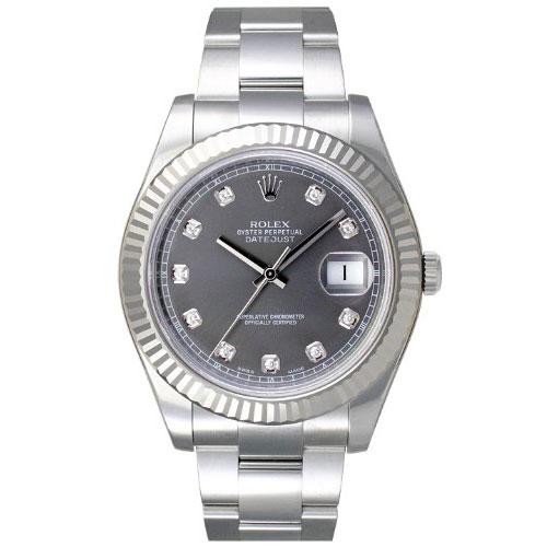 【店内全品送料無料~3/11】ロレックス ROLEX デイトジャスト メンズ 腕時計 グレー 116335G