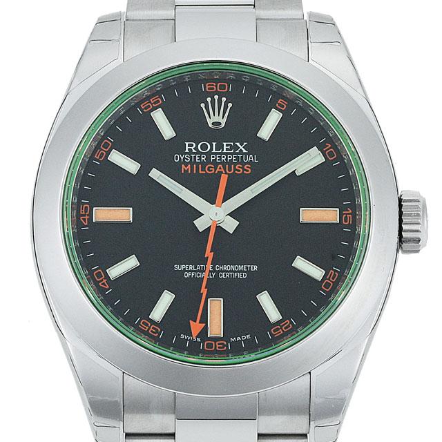 【店内全品送料無料~3/11】ロレックス ROLEX ミルガウス メンズ 腕時計 ブラック 116400GV