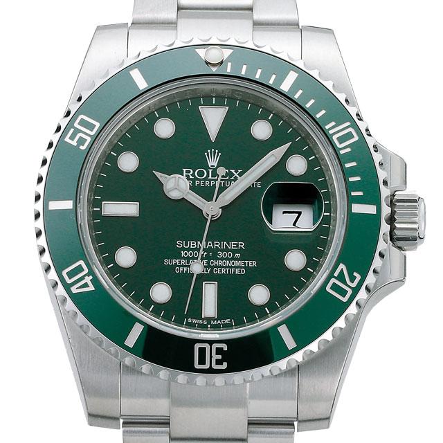 ロレックス ROLEX サブマリーナ メンズ 腕時計 グリーン 116610LV