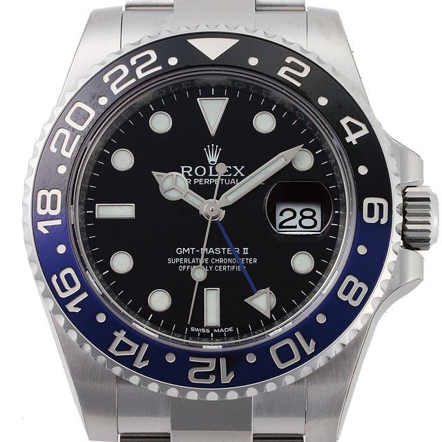 ロレックス ROLEX GMTマスター2 メンズ 腕時計 ブラック 116710BLNR