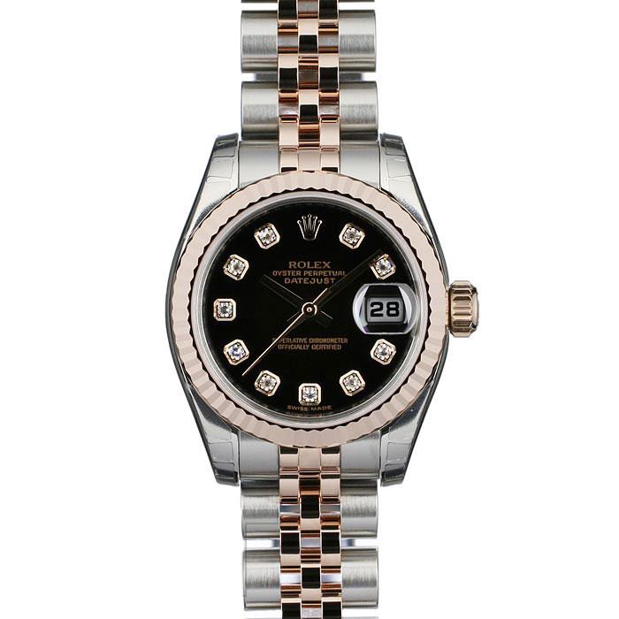 be71ce5476 楽天市場】ロレックス ROLEX レディース 腕時計 ブラック 179171G ...