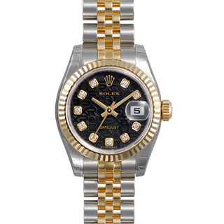 【店内全品送料無料~3/11】ロレックス ROLEX デイトジャスト レディース 腕時計 ブラック 179173G