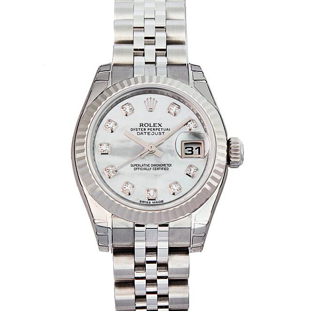 【店内全品送料無料~3/11】ロレックス ROLEX デイトジャスト レディース 腕時計 ホワイト 179174NG