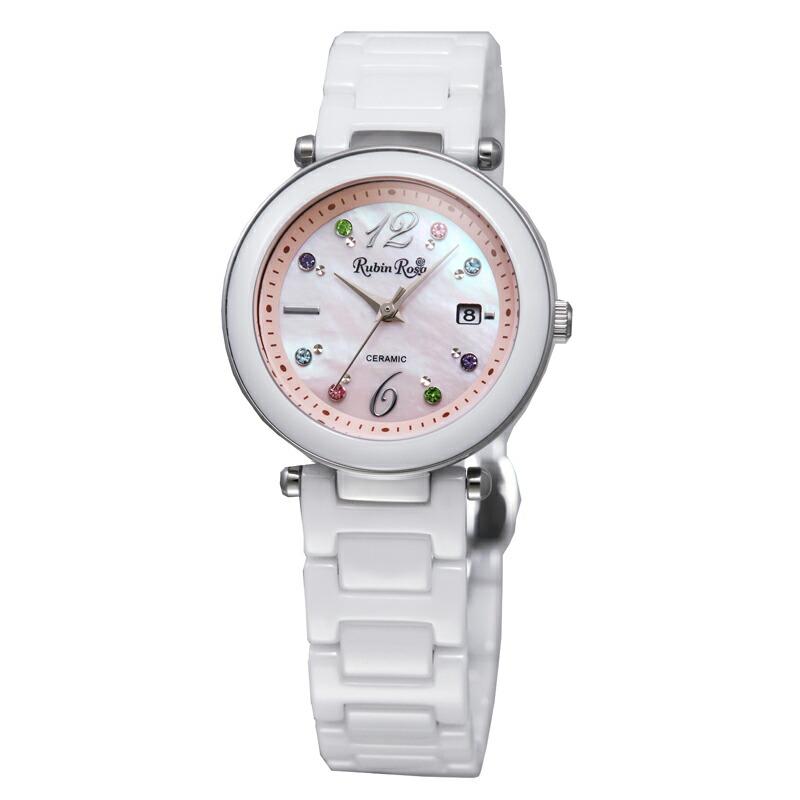 ルビンローザ RubinRosa 腕時計 レディース R307SPKMOP ピンクシェル
