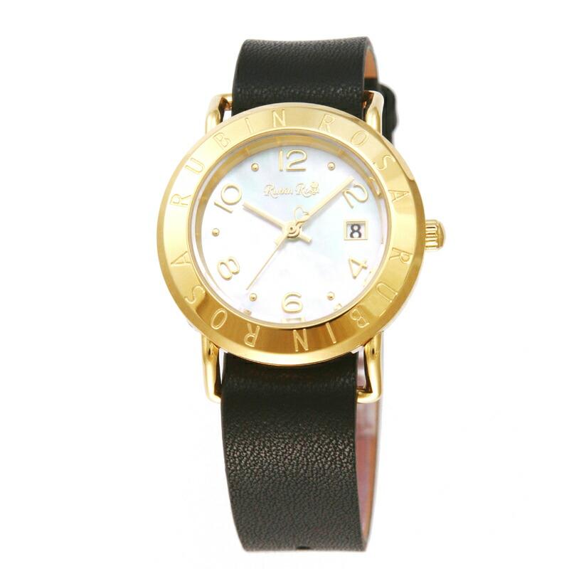 ルビンローザ RubinRosa 腕時計 レディース R601GWHMOP ホワイトシェル