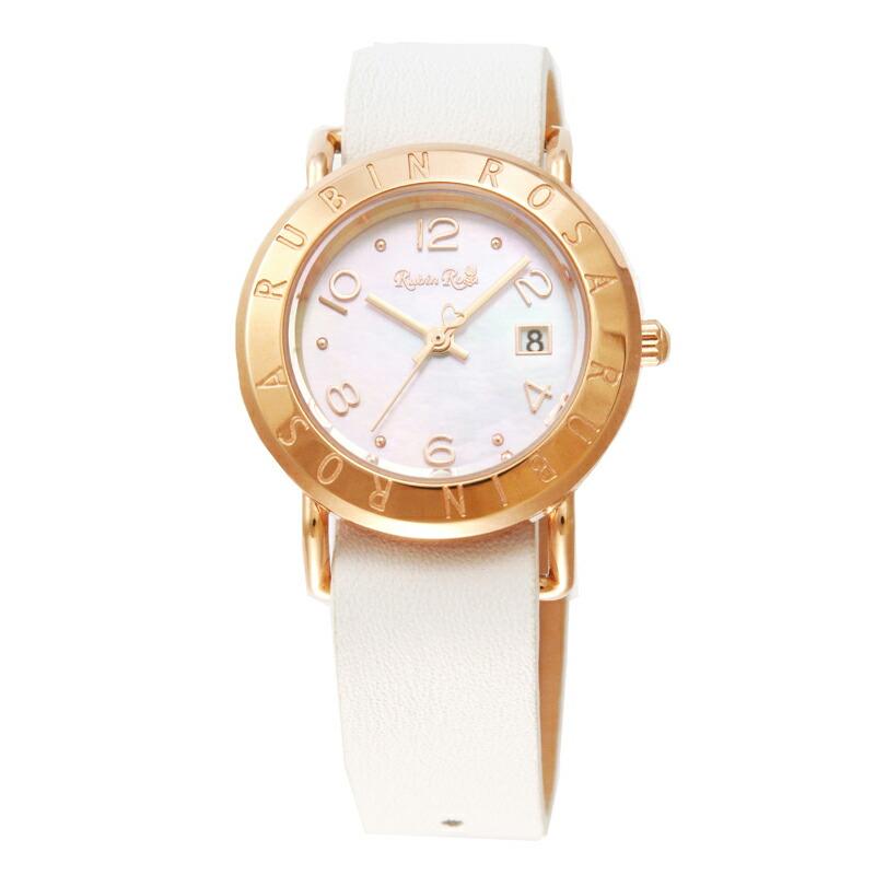 ルビンローザ RubinRosa 腕時計 レディース R601PWHMOP ホワイトシェル