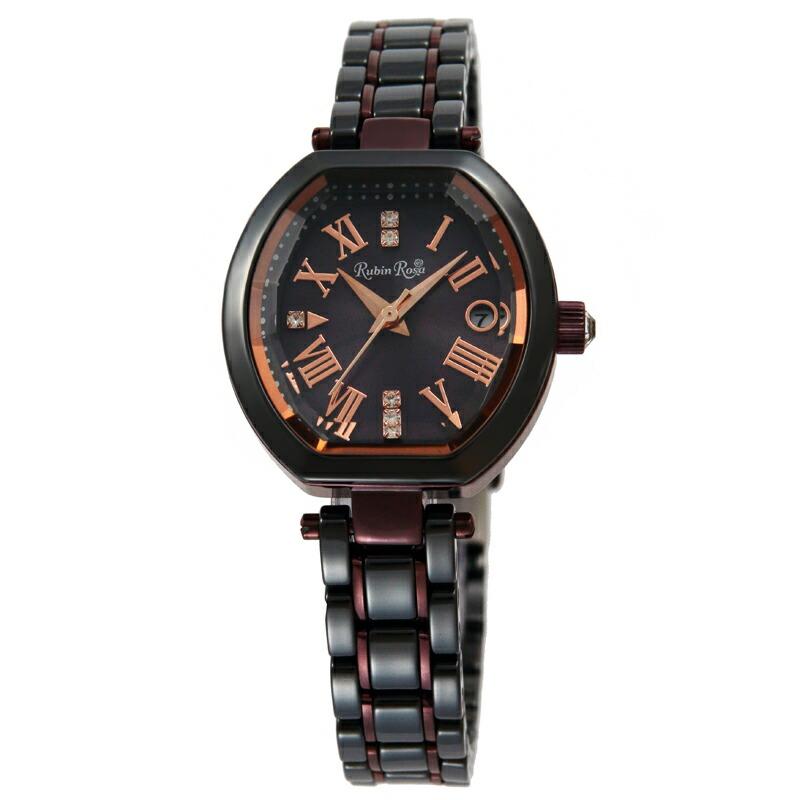 ルビンローザ RubinRosa 腕時計 レディース R308BRBK ブラウン