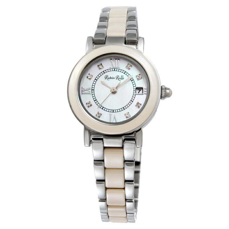 ルビンローザ RubinRosa 腕時計 レディース R309SBE ホワイトシェル