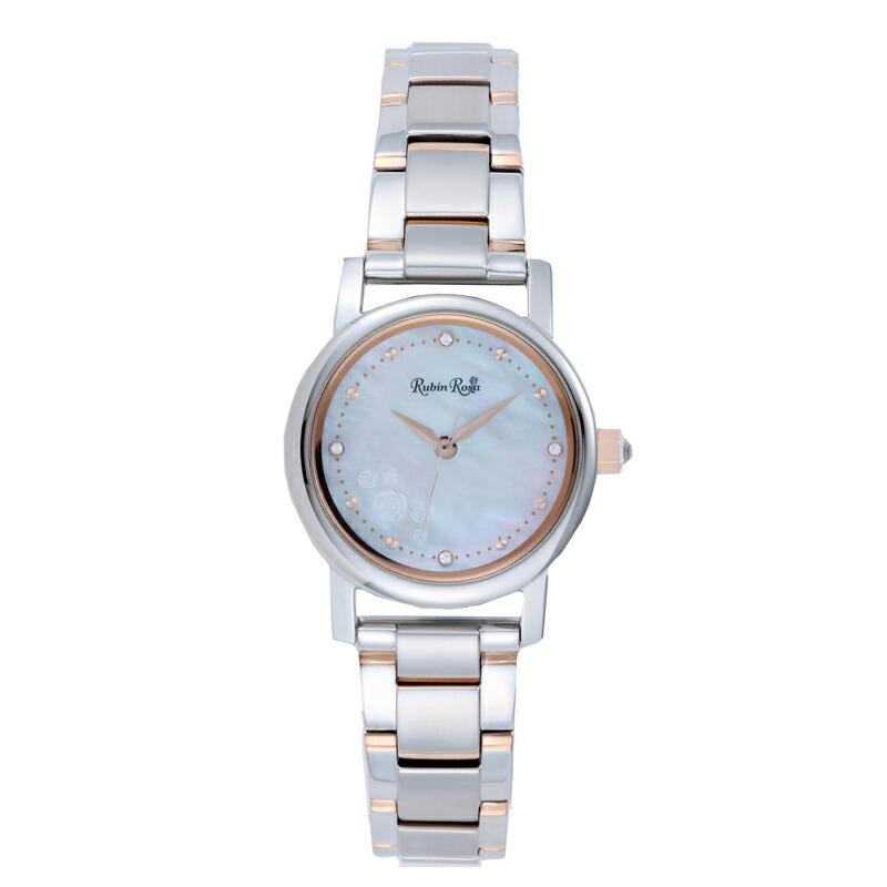 ルビンローザ RubinRosa 腕時計 レディース R026SOLTWH ホワイト