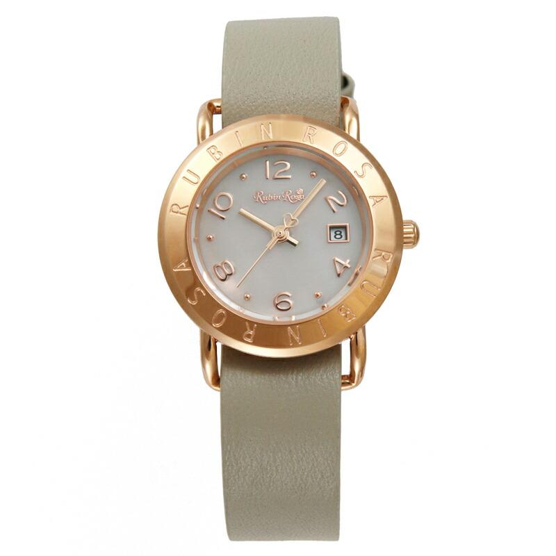 ルビンローザ RubinRosa 腕時計 レディース R601PWHLG ホワイト