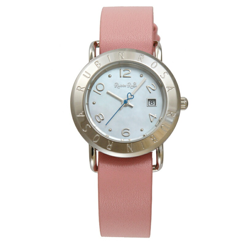 【店内全品送料無料~2/16】ルビンローザ RubinRosa 腕時計 レディース R601SWHPK ホワイト