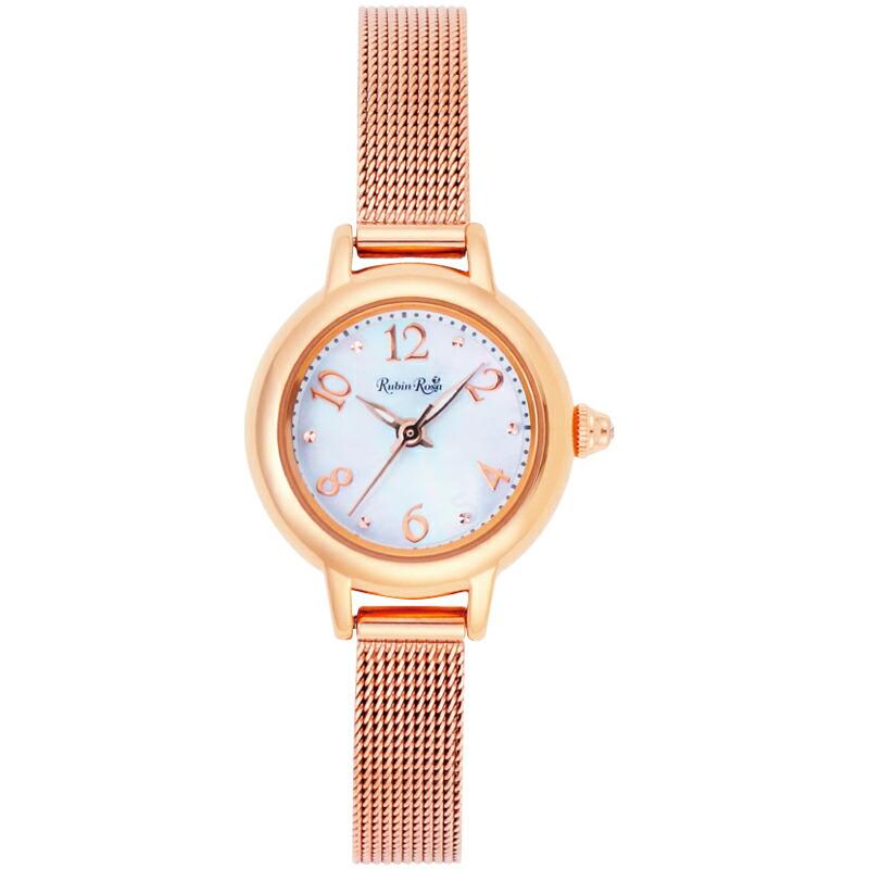 ルビンローザ RubinRosa レディース腕時計 R202PWH 202 ホワイトシェル
