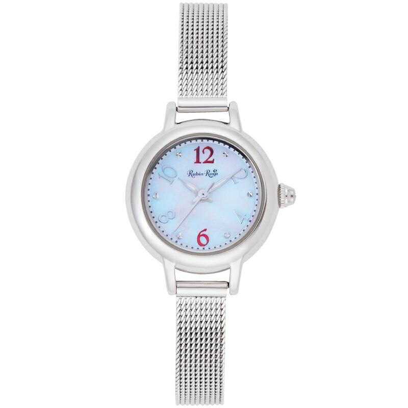 ルビンローザ RubinRosa レディース腕時計 R202SWH 202 ホワイトシェル