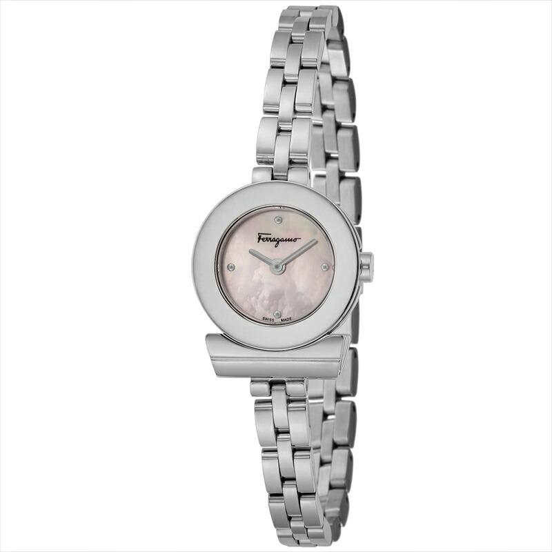 フェラガモ Ferragamo レディース腕時計 ガンチーニブレスレット FBF070017 ピンクパール