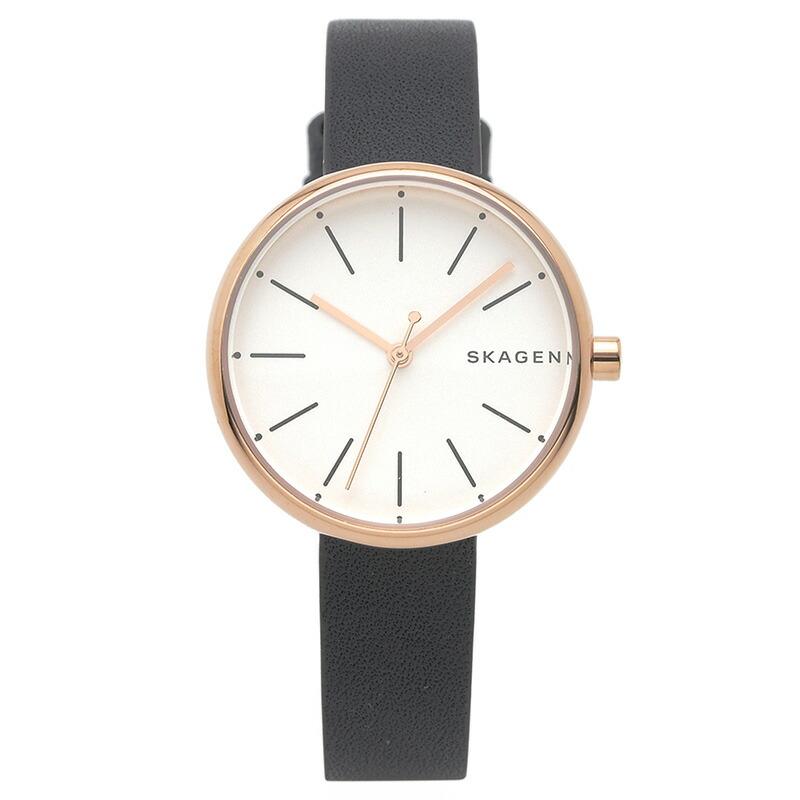 スカーゲン SKAGEN 腕時計 SKW2592 SIGNATUR ホワイト PGメッキ