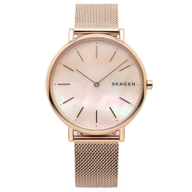 スカーゲン SKAGEN 腕時計 SKW2732 SIGNATUR ピンク PGメッキ