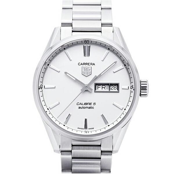タグホイヤー TAG Heuer 腕時計 カレラ キャリバー5 デイデイト シルバー WAR201B.BA0723